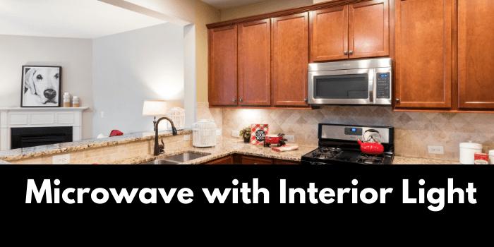 Microwave with Interior Light